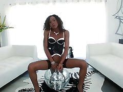 Heavy dick Black Goddess with her boy toys