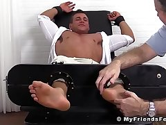 Hot feet licking and tickling with classy jock and patriarch stud