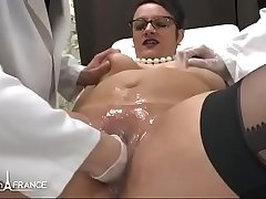 Amateur BBW french milf fisted analyzed and facialized in 3way at hammer away gyneco