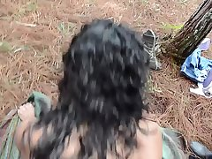 Sex-crazed Lalin girl guerrillas having their way with dark-hued male