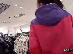 Charming czech nympho acquires enticed in get under one's hypermarket and shagged in pov