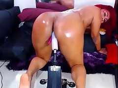 REDHEAD LATINA MASTURABTES DILDO MACHINE ON CAM Together with HAS MULTIPLE ORGASMS