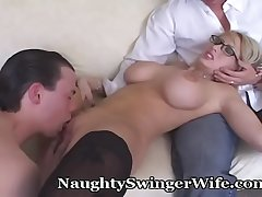 Swinger Wife Shares Her Wonderful Tits