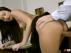 Private SchoolGirl Alexi Reputation Drilled By Teacher In Uniform