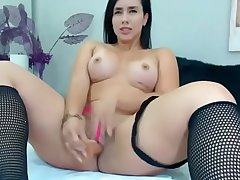 HOTDATE.CF - Colombian Brunette Hottie Self Fucking Her Honeycomb