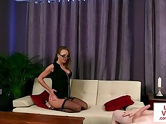 CFNM milf disrobes in front sub guy