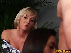 British cfnm puberty giving a sample blowjob