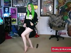 Amateur Webcam Teen Green Be alive - www.GirlsHaving.Fun