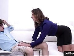 Beautiful broad in the beam ass cougar MILF Helena Price ges fucked