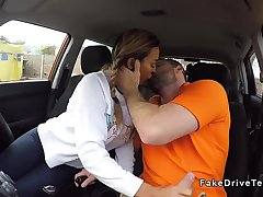 Milf driving student with big ass banging