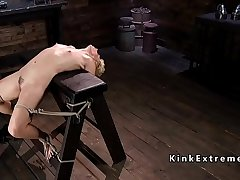 Hogtied changeable Milf gets tormented