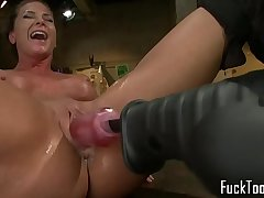 Lesbian tackle sweethearts seducing pussies nicely