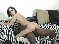 Cute coed Kelly takes some black dude's big dick