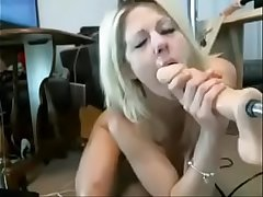 Blond milf mouth shacking up Machine On Cam more at - www.thesluttycams.com