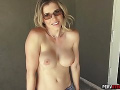 Tow-haired leader MILF stepmom got fucked in a outdoor sex