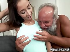 Ho acquires jizzed by gramps