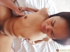 Blistering Asian MILF with tight pussy gets fuck &amp_ facial cumshot